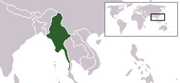 Union of Myanmar - Location