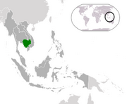 Royaume du Cambodge - Carte