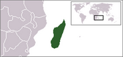 République de Madagascar - Carte