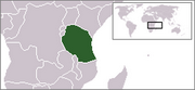 United Republic of Tanzania - Location