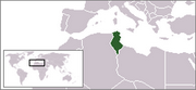 République tunisienne - Carte